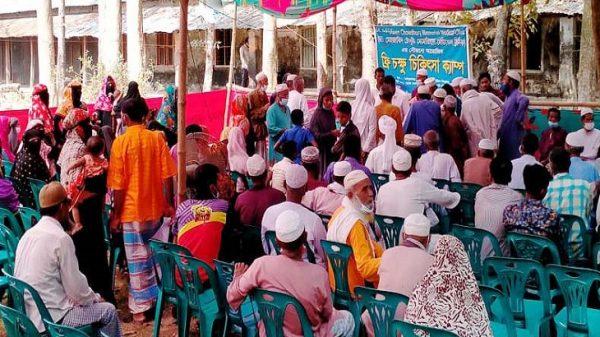 বরগুনার আমতলীতে বিনামূল্যে চক্ষু চিকিৎসা ক্যাম্প
