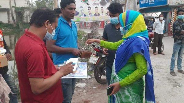 কাউখালীতে মাস্ক ব্যবহার না করায় ৯০ জনকে জরিমানা