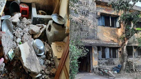 পটুয়াখালীতে গণপূর্তের ঝুঁকিপূর্ণ ভবনের পলেস্তারা ধসে শাশুড়িসহ শিক্ষিকা আহত