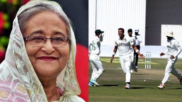 বাংলাদেশ ক্রিকেট দলকে প্রাণঢালা অভিনন্দন জানিয়েছেন প্রধানমন্ত্রী শেখ হাসিনা